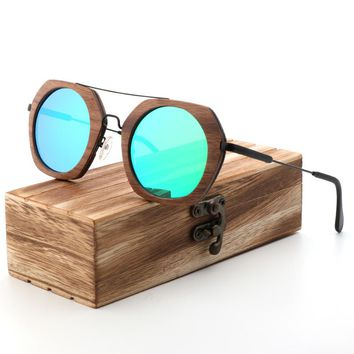 Polarized Wood Sunglasses for Men & Women  Classic Wooden Coated Sun Glasse With 100% UV Blocking HD Lenses Vintage Eyewear