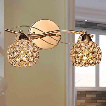 Modern Crystal Wall Lamp Sconce K9 G9 Bed room Stairs Aisle chandelier wall light fixture shade for Home Decor Luminaire FRHA/50