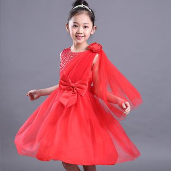3 clolorNew Princess Girl Dress Summer Wedding Birthday Party Dresses For Girls Children's Costume Teenager Lace Prom Designs