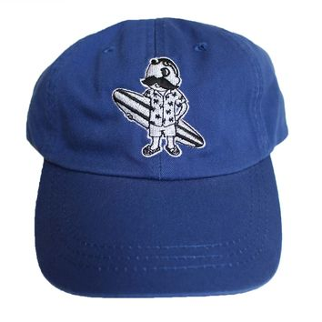 Natty Boh Surfer Dude in White (Royal) / Baseball Hat