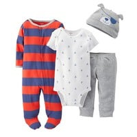 Carter's Stripe Sleep & Play Set - Baby Boy, Size:
