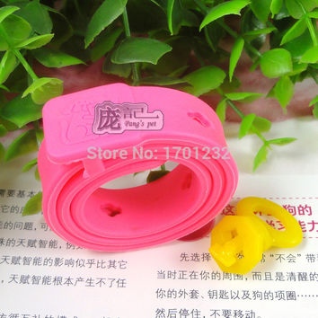 Free Shipping 2015 Cat or Dog pet flea collars pink flea flea circle to kill lice in addition to the parasite deworming