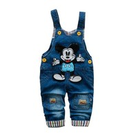 baby pants boys clothes infant overalls 1-3 years baby boys girls spring kids jeans pants baby jumpsuits cotton denim trousers