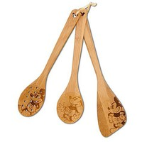 Bamboo Mickey Mouse Utensil Set -- 3-Pc. | Kitchen Essentials | Disney Store