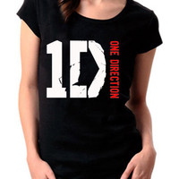 New 1D One Direction Boy Band Hipsta Logo Women Short Sleeve Cotton T Shirt - (1D03)