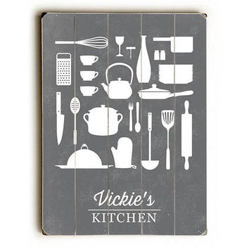 Personalized Kitchen by Artist Brooke Witt Wood Sign