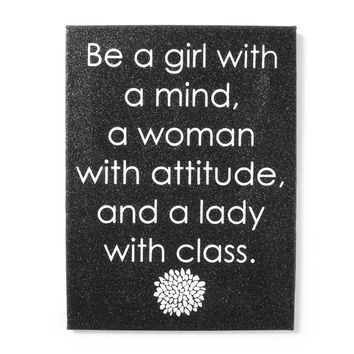 Woman with Attitude Glitter Wall Canvas  | Icing