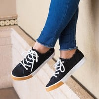 Canvas Sneaker - Black