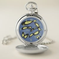 Infinity Symbol - Time Is Endless Design Pocket Watch
