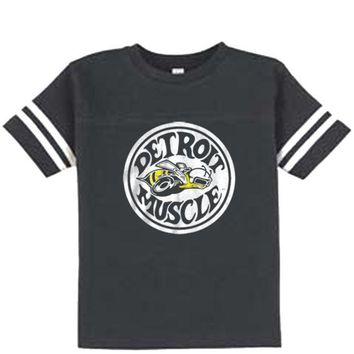 DCCKG8Q Made in Detroit Super Bee - Toddler - Vintage Smoke Football Tee