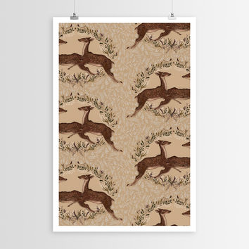 Jessica Jumping Deer Pattern POSTER