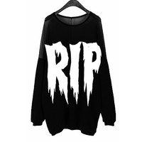 RIP OFF THE SHOULDER SWEATSHIRT
