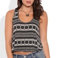 Moroccan Print Swing Tank Top with Strap Back