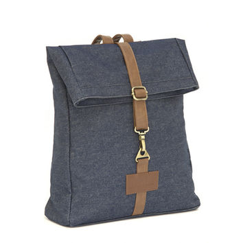 Indigo Denim Backpack