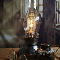 Colonial Lincoln Lamp - Colonial Light - Lincoln Lantern - Desk Light - Table Light - Civil War - Edison Lamp
