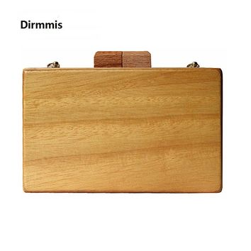 Wood evening bag Cute box solid wooden wallet Eur-american Clutch