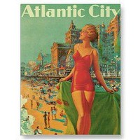 Vintage Travel Poster; Atlantic City Post Cards