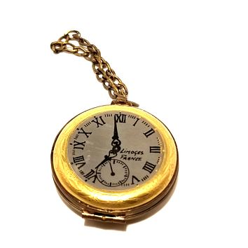 Pocket Watch Enjoy the Moment- 1 of 750 First One Made of Retired Rare Limoges Box