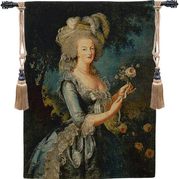 Marie Antoinette with Rose European Wall Hanging