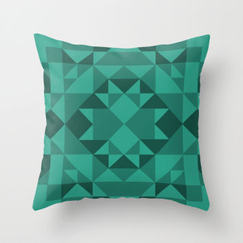 Blue Throw Pillow by EmmaKennedy