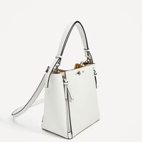 BUCKET BAG WITH ZIPS DETAILS