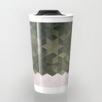 Geometric Pattern Travel Mug by Salome