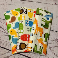 Baby Burp Cloths,Animal prints,Burp Rags,Handmade Burp Cloth Sets,Baby Gift,Baby Accessories,Baby and Child Care,Baby Burping,Baby Shower