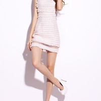 [USD $81.99] Lady Paneled Mini Dress