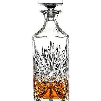 James Scott Lead Free Crystal Liquor Whiskey and Wine Decanter Irish Cut 1 Piece 750ml