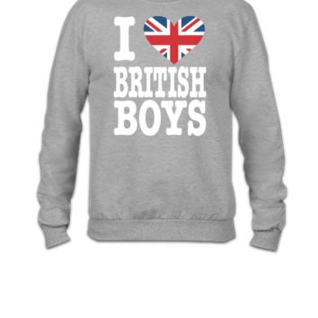 i love british boys - Crewneck Sweatshirt