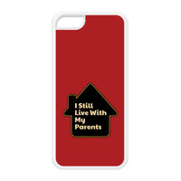 I Still Live With My Parents White Silicon Rubber Case for iPhone 5C by Chargrilled