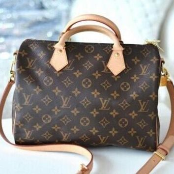 LV Women Shopping Leather Multicolor Tote Handbag Shoulder Bag G