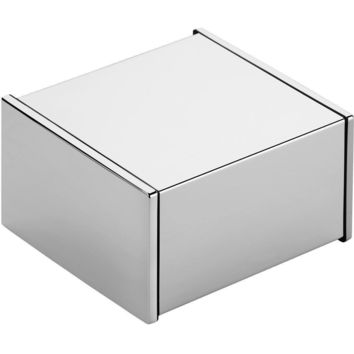 Ext Wall Toilet Paper Holder Bath Tissue Roll Paper Dispenser with Cover, Chrome