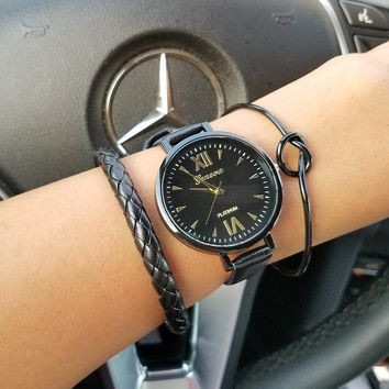 Braided Knot Watch and Bracelet Set