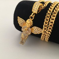 Gift Shiny Jewelry New Arrival Stylish Hip-hop Club Necklace [8439466819]