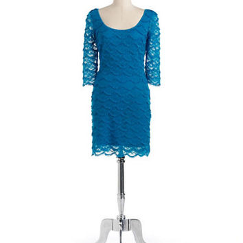 Guess Fringed Lace Sheath Dress