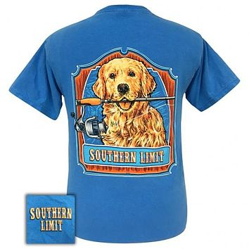 Southern Limits Dog Fishing Pole Unisex Comfort Colors T-Shirt