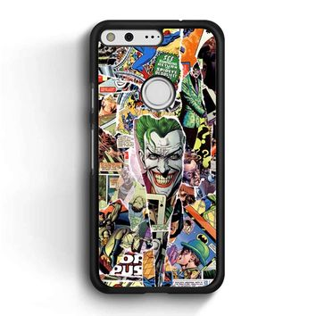 Comic Collage Joker Google Pixel Case