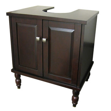 25-inch Sink-Wrap Bathroom Vanity Set in Espresso Wood Finish
