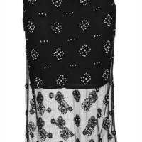 Crystal Embellished Pencil Skirt