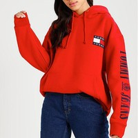 Tommy Hilfiger Fashion Women Men Casual Hot Sale Hoodie Cute Sweater I
