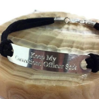 Keep My Corrections Officer Safe, Two Sided Engraved Bracelet