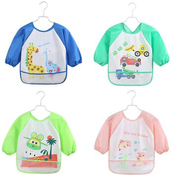 Cartoon Print Baby Bib Infants Pinafore Baby Feeding Neckerchief Bandana Clothes Cover Kids Overclothes Slipover Saliva Towel