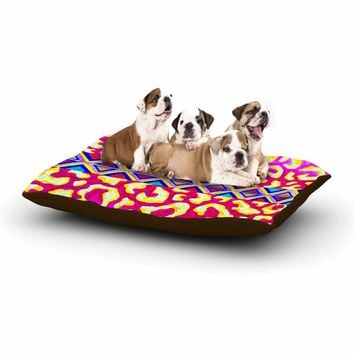 "Ebi Emporium ""The Tribal Leopard - Pink"" Pink Painting Dog Bed"
