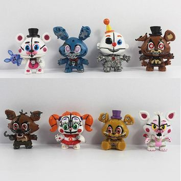 New 8pcs/set 5cm Anime  At Vinyl Doll Nendoroid Mini Figures Toys for Kids Collectible Model Gifts In Opp Bag
