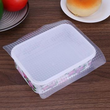 Multifunctional Food Fresh Keeping Wrap Silicone Vacuum Food Wrap Sealing Food Fresh Storage Cover Stretch Lid Kitchen Tools