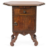 One Kings Lane - Seahouse Design - Walnut Cigar Humidor Cabinet