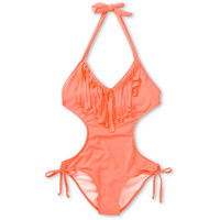 Lira Malibu Coral Fringe One Piece Swimsuit