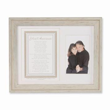 Anniversary Poem and Double 8x10 Photo Frame