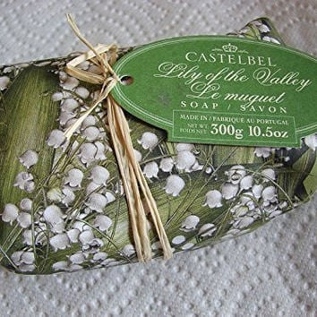 Castelbel Lily of the Valley Soap Portugese, Imported Scented and Beautifully Gift Wrapped 10.5 Oz